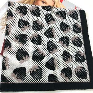 YSL Mini Scarf in the black strawberries print